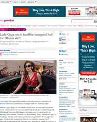 Lady Gaga set to headline inaugural ball for: guardian.co.uk